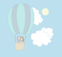 Rumbelle Balloon Flight by CartoonJessie