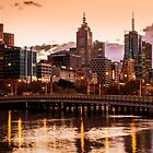 Melbourne South Bank Sunrise by Matt Simner