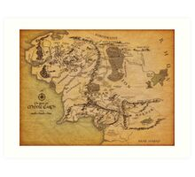 The Middle Earth Art Print