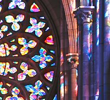 Brilliant Colors in Church Rosette by aurielaki