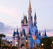 Cinderella's Castle at Dusk (1) by Mark Fendrick
