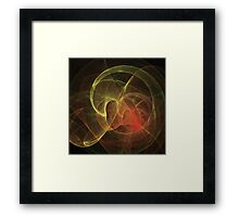 Abstract Art Magic Flame Framed Print
