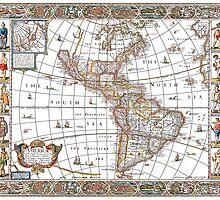 Vintage Map - America by Irina Chuckowree