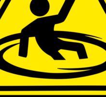 Caution Portals Sticker