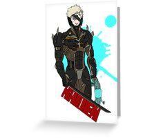 Metal Gear Rising Raiden Greeting Card