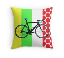 Bike Tour de France Jerseys (Vertical) (Big - Highlight)  Throw Pillow