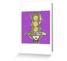 Big hat red lips Greeting Card