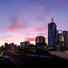 Melbourne Sunset by wolfcat