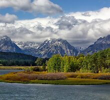 Grand Tetons from Oxbow Bend by Charles Kosina