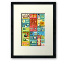 Pastafacts Infographics Poster Framed Print