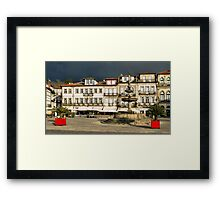 Camoes square in Ponte de Lima, Portugal Framed Print