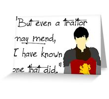 Edmund Pevensie Traitor Quote Greeting Card