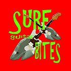 SURF guitar BITES (green wording) by Matterotica