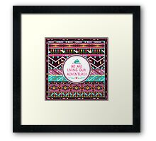 Navajo pattern with geometric elements Framed Print