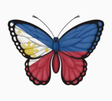 Filippino Flag Butterfly Kids Clothes