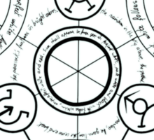 Fullmetal Alchemist transmutation circle Sticker