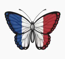 French Flag Butterfly Kids Clothes