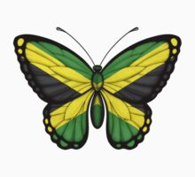Jamaican Flag Butterfly Kids Clothes