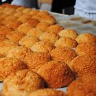 French coconut Macaroons on Market day by Sarah Cowan