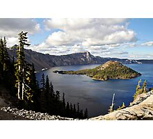 Crater Lake - Intense blue waters and spectacular views Photographic Print
