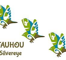 Silvereye TAUHOU New Zealand Bird by piedaydesigns