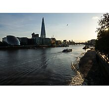 Sailing Up the Thames River in London, UK Photographic Print