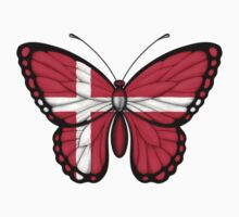 Danish Flag Butterfly Kids Clothes