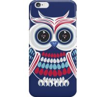 Patriotic Owl - Blue iPhone Case/Skin