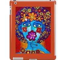 Flower Power Hand Drawn Face iPad Case/Skin