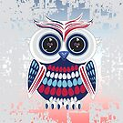 Patriotic Owl - Crackle by Adamzworld
