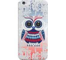 Patriotic Owl - Crackle iPhone Case/Skin