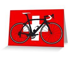 Bike Flag Switzerland (Big - Highlight) Greeting Card