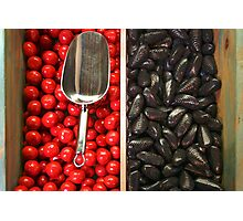 Red and Black Candy Photographic Print