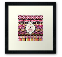 Native american seamless tribal pattern with geometric elements Framed Print