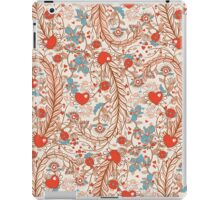 Seamless valentines decor pattern with flowers and hearts iPad Case/Skin