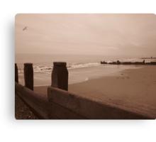 The beach at Hornsea Canvas Print