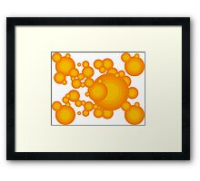 The Orange 70's year styling  Framed Print