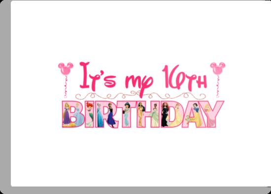 Disney 16th Princess Birthday by sweetsisters