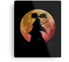 Kenshin into the Dark Metal Print