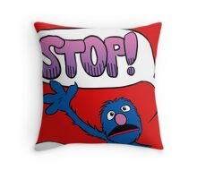 Monster on the Front of the Shirt Throw Pillow