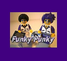 Funky Punky DJ Clubbing Tru & his Dad Disco Stu (with CD and Brick Fever Record) LEGO® Minifigs by Chillee