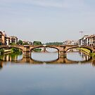Bridge From Ponte Vecchio by dbvirago