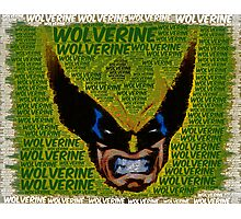 Wolverine with Text Photographic Print