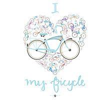 I Love my Bicycle Print Photographic Print
