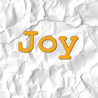 Crunchy Paper Throw with Joy by appfoto