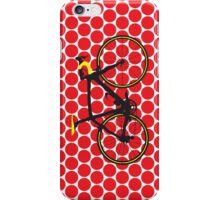 Bike Red Polka Dot (Big - Highlight) iPhone Case/Skin