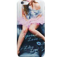 Spread Love - Blue iPhone Case/Skin