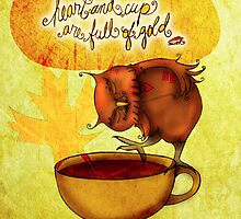 What my #Coffee says to me - Feb 20, 2014 Pillow by catsinthebag