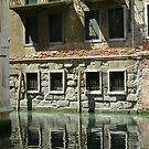 Living on the canal in Venice by hans p olsen