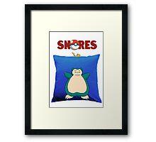 Snorlax Jaws Mashup Framed Print